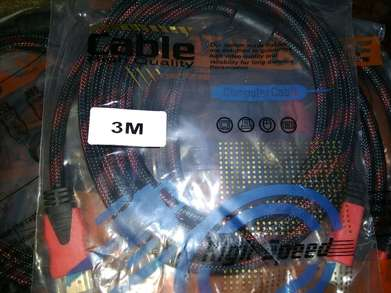 Kabel HDMI Male To Male Jaring 3m Gold Plated High Quality