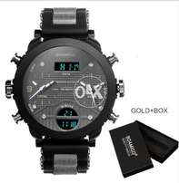 BOAMIGO brand 3 time zone military sports watches