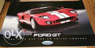 Ford Gt Double Sided Rare Poster