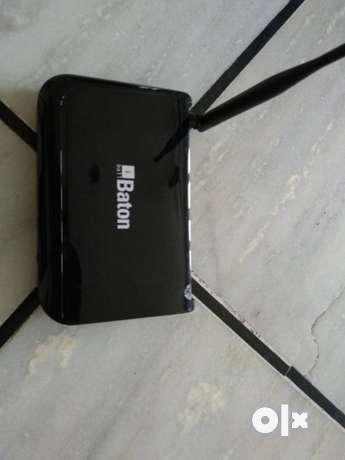 Black Baton Modem Router