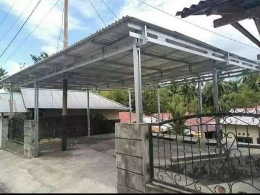 Kanopi Atap Rumah Partisi Rangka Baja Ringan Konstruksi Dan Taman 787382372