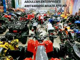 Atv quad bike in all sizes available for sell at abdullah shop.