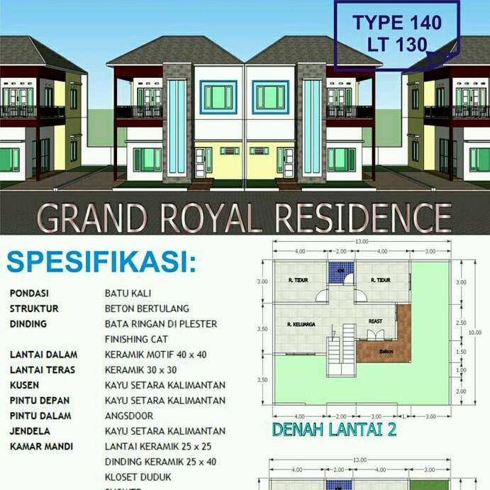 grand royal residence dua lantai