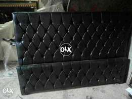 Black color simple and stylish bed