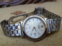 Original Citizen eco drive in golden touch