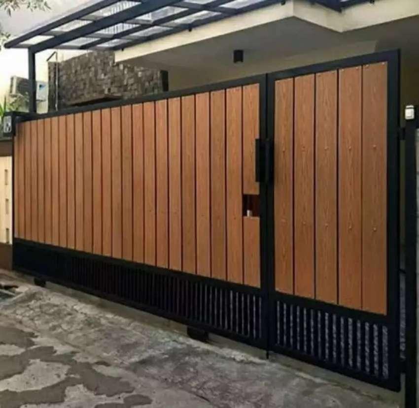Pagar Minimalis Grc Motif Kayu ,tahan Air & Gak Keropos,terbaru 08 -  Konstruksi Dan Taman - 802889245