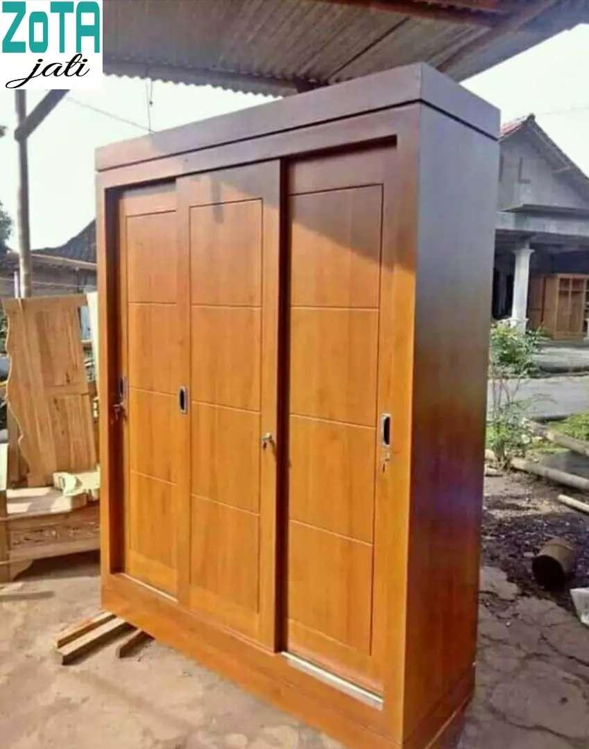 Lemari Pakaian Kayu Jati Mewah Ukir Jepara Asli Free Ongkir Cod No Dp Mebel 806066334 Lemari pakaian kayu jati