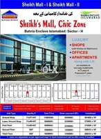 500 Square Feet Shops, Second Floor, Sheikh's Mall, Bahria Enclave