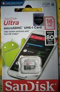 micro sd sandisk 16 gb 80 mb original