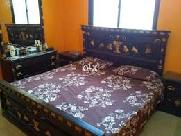 Wooden Bed (Big size), Dressing