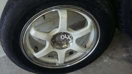 16 inch racing alloy rims 100pcd 4 nuts ..exchange