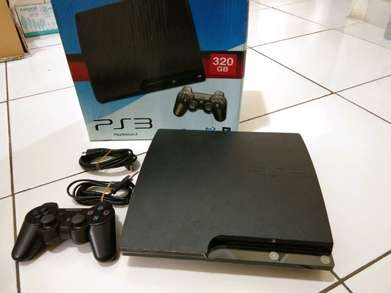 PS 3 Slime CECH-2000A hardisk 320GB ada dus games ok