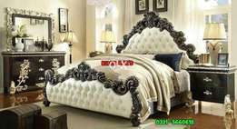 Stylish bed with side table dressing Ready stock Khawaja's Fix price