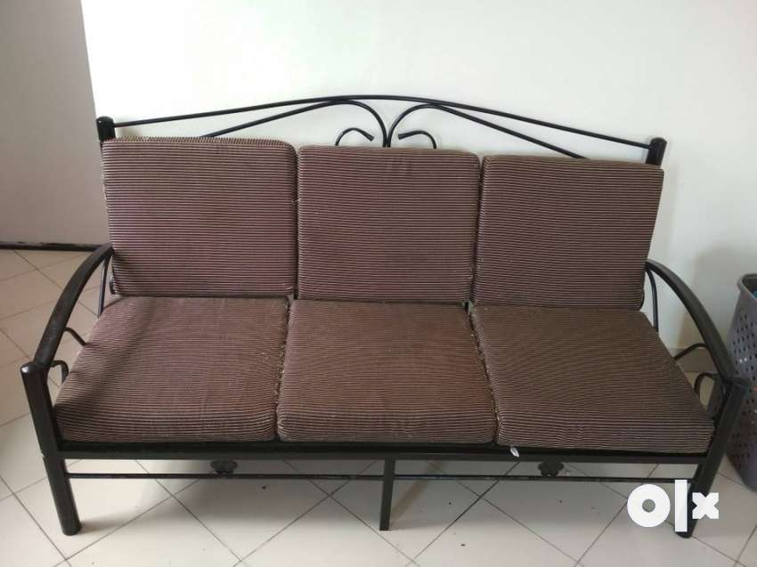 Wrought Iron Sofa Set 3 1 In Excellent Condition