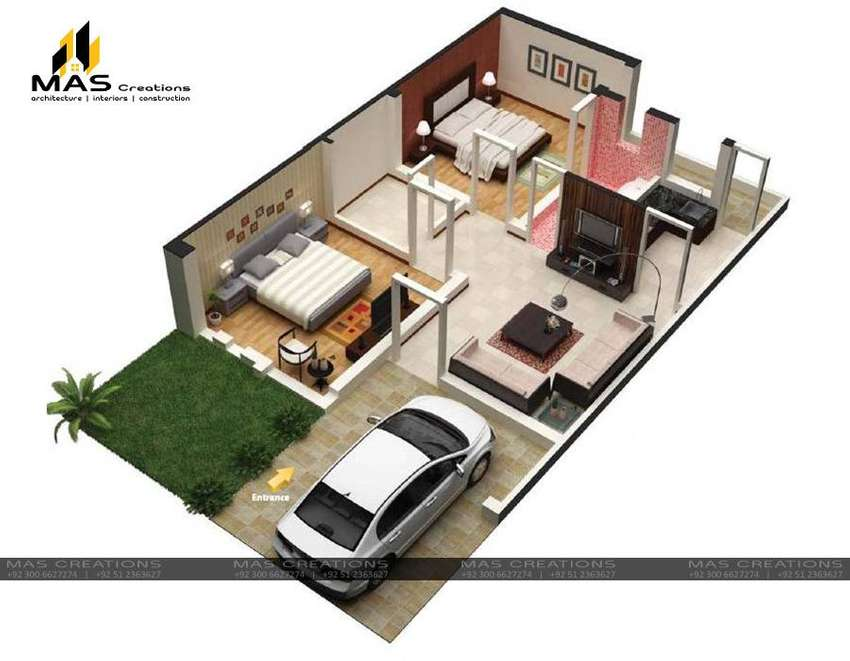 Architecture Civil Home Design Map Naqsha Interior