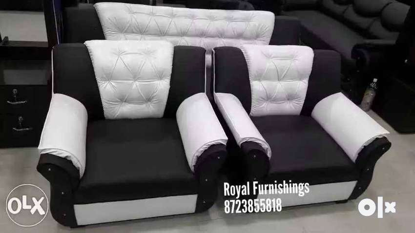 Black And White Leather Sofa Set Sofa Dining 1283136109