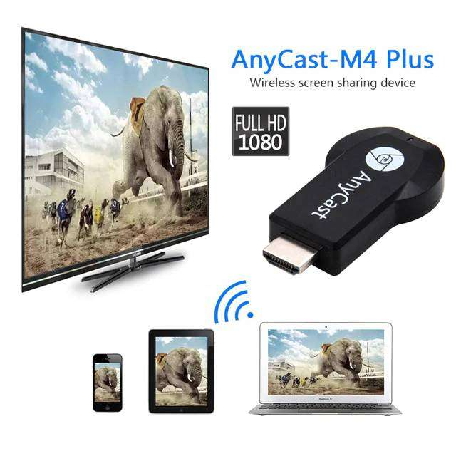 AnyCast M4 Plus Wireless WiFi Display Dongle Receiver - TV - Video