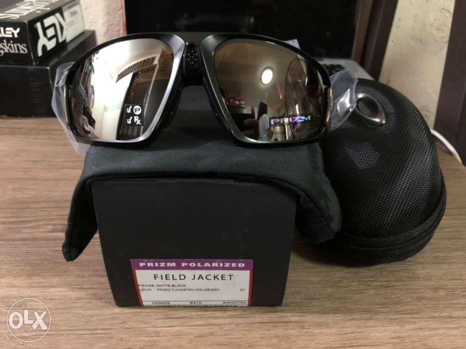 ec394b25cc Brandnew Oakley Field Jacket Matte Black Tungsten Prizm Polarized in ...