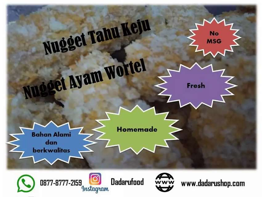 Nugget Ayam Wortel Frozen Food Homemade Makanan Minuman
