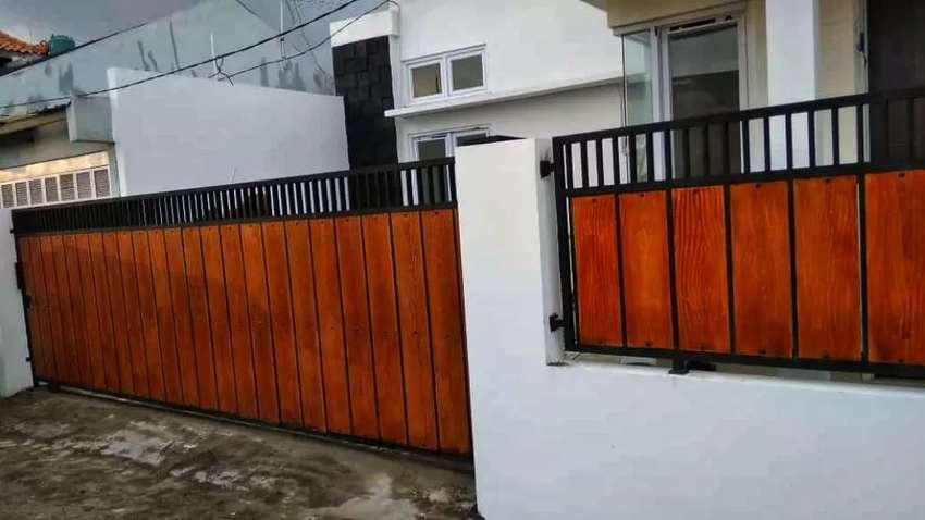 Pintu Pagar Minimalis Modern - Konstruksi Dan Taman - 792688802