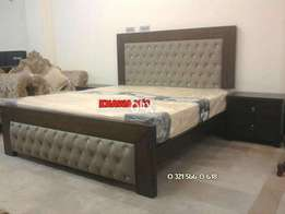 Brand new bed with side table and dressing khawaja's