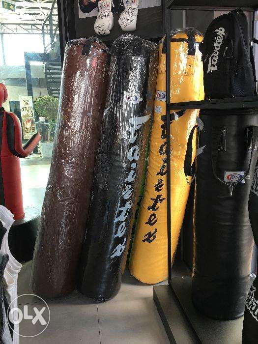 Fairtex Hb6 6 Feet Muay Thai Banana Bag Heavy Black Unfilled