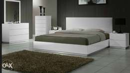 LALBAY Glorius Profile Bed set white