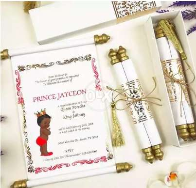 Royal Scroll Wedding Cards Invitations Instant Printing Services 24