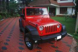 Red Rubicon jeep With all shapes available ready