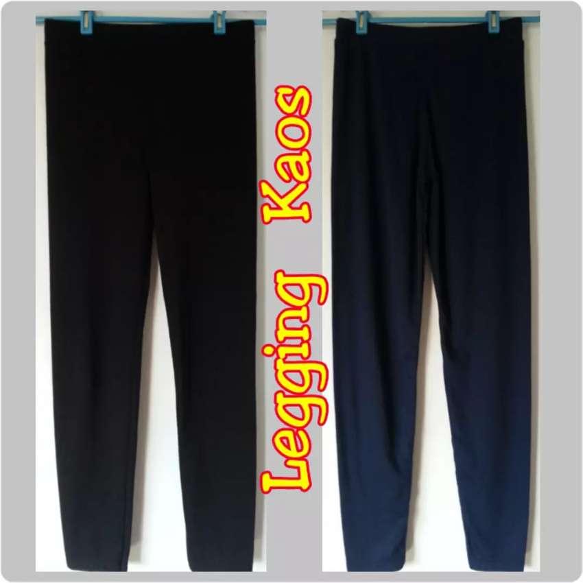 Celana Legging Hitam Bahan Kaos Fashion Wanita 790688517