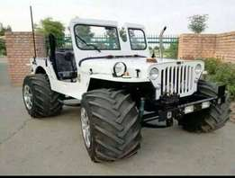 Ronded shape with white Color JEEP nd Color