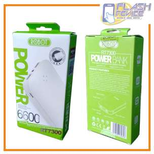 Power Bank Robot RT7300 Kapasitas 6600 MAh - ORI