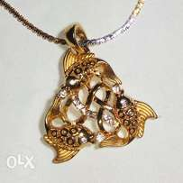 New Style Gold plated Fish locket For Women & Girls