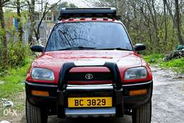 The challenge 3 door rav4 in the town.