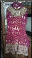 Stylish frok golden and colour full work one time used