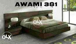 Super smart design modern bed by AWAMI modern Bed with side table