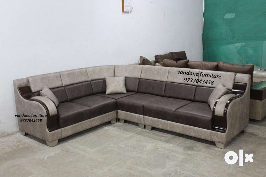 5 Seater Sofa Set Wooden Handle Factory Outlet Sofa Dining