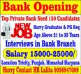 Bank Job Opening Top Private Banks Required Graduates Male Female