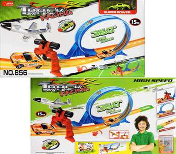 Track Racing Mobil PullBack Plane launcher