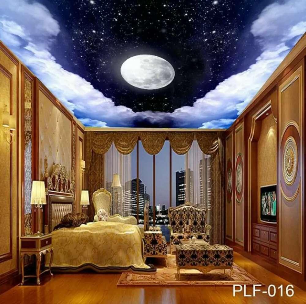 Wallpaper Cusyom 3D Untuk Plafon Rumah Seri 1