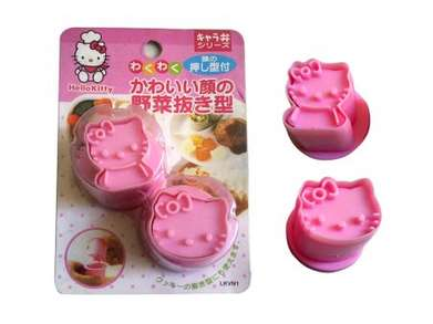 Cetak Kue Wortel Mini 2 In 1 Hello Kitty Bentuk Face Full Body Ori Sa