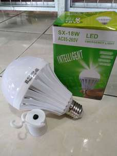 Antar lampu emerjensi led bohlam emergency 18watt high light