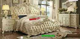 best sale offer wooden Bed with side table dressing khawaja's