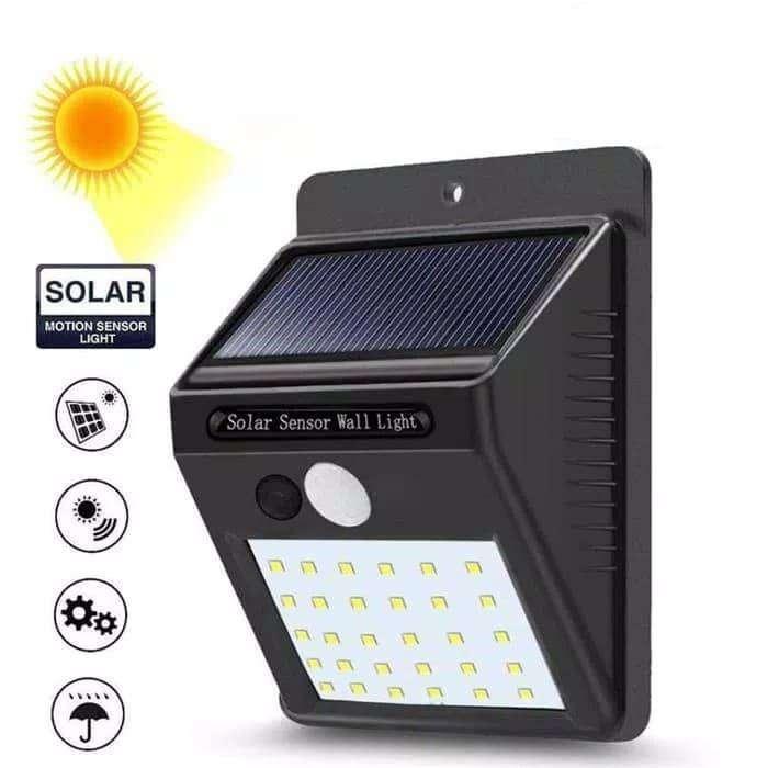 Lampu Dinding Taman Sorot 30 Led Solar Sensor Gerak Cahaya Bna Irone Lampu 766472883