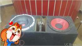 12 inch Two woofer+box . car+home