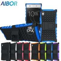 Sony Xperia Heavy Duty Armor Slim Rugged Case With Stand