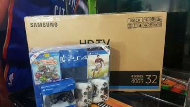 1Set Ps4 500gb plus Tv led samsung 32 inci lengkap