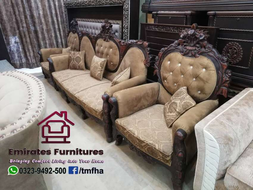 Chinioti Pure Sheesham Wood Sofa Sofa Chairs 1015592038