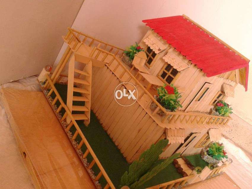 Ice Cream Sticks House For Sell Beautiful With Led Light Big