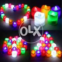 24 LED candles pack, non smoke and safe for kids.